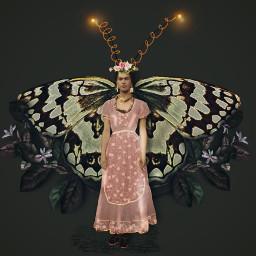 fridakahlo confidence wings art unibrow_queen myedit inspiration butterflyeffect freetoedit default