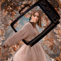 freetoedit retro television woman renessaince irconretrotv onretrotv