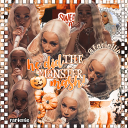 freetoedit dojacat halloween fariellie monstermash orangecollage complexedit preppy