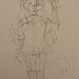 art gacha manga anime drawing oc gift friend noice jess cat fishnet dress orange black cool luna doodle style local