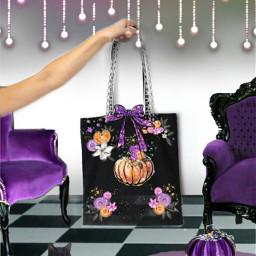 halloween purple freetoedit ircdesignthebag designthebag