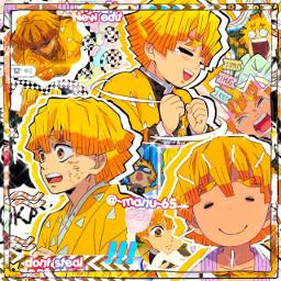 zenitsu demonslayer demonslayermugentrain nezuko tanjiro inosuke anime manga local remixit
