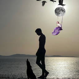 aullido@chelorubio freetoedit aullido ircsunsetsilhouette sunsetsilhouette