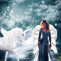 freetoedit magical fairytale unicorn horn wings fantasy challenge srcunicornhorn unicornhorn