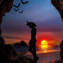 freetoedit competition ircsunsetsilhouette sunsetsilhouette