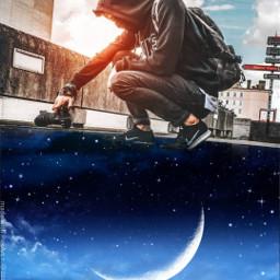 sky photography photographer stars space moon night freetoedit