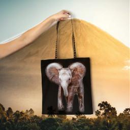 elephant babyelephant bag freetoedit picsart unsplash ircdesignthebag designthebag