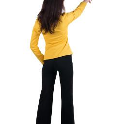 freetoedit woman womanpointing