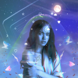freetoedit replay picsartreplay background picsart picsartru heypicsart aesthetic madewithpicsart sky clouds moon stars fantasy galaxy space girl art myedit shop