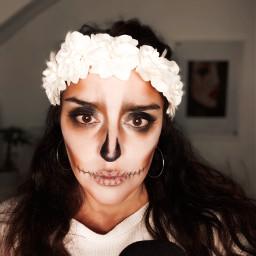 halloween selfie halloweenspirit fotography skullmakeup local