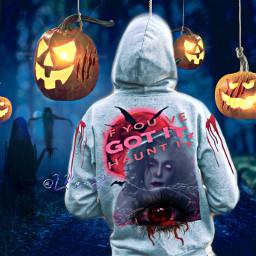 freetoedit hoodie design horror halloween scary darkforest colorinme irchoodiefrombehind hoodiefrombehind