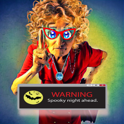 freetoedit text warning popup spookynight playwithstickers lady inred picsart colorinme ecmycurrentemotion mycurrentemotion