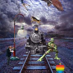 freetoedit train turtle bird